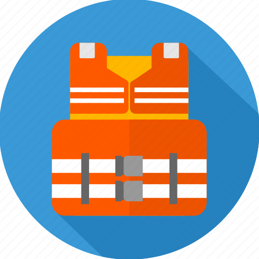 jacket, safety, safety jacket icon