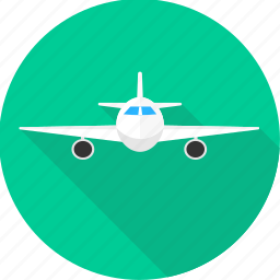 aeroplane, air, airplane, flight, fly, landing, plane icon