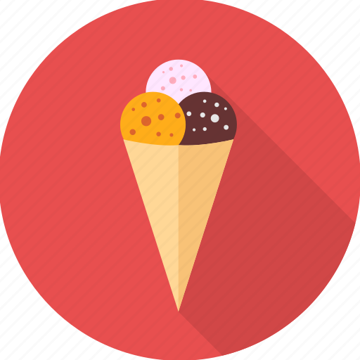 cone, cream, dessert, ice, ice cream, icecream, scoop icon