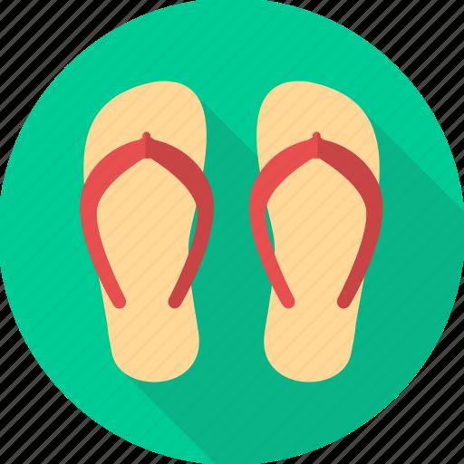 beach, flip flop, flip flops, foot, footwear, slipper, slippers icon