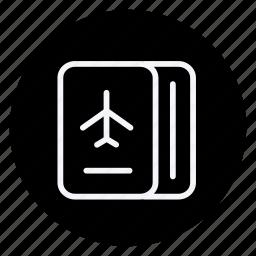 holiday, holidays, outdoor, passport, tourism, travel, vacation icon