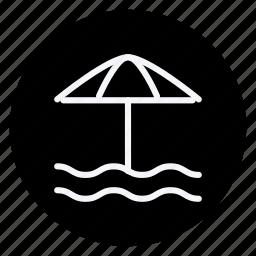 holiday, holidays, outdoor, sun umbrella, tourism, travel, vacation icon