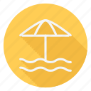 beach, holiday, outdoor, sun umbrella, tourism, travel, vacation icon