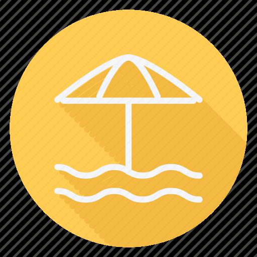 beach, holiday, outdoor, sun umbrella, tourism, travel, vacation icon