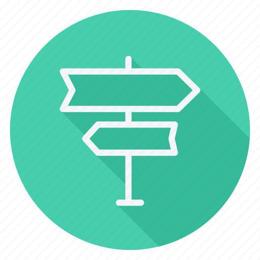 directions arrows, left, location, right, tourism, travel, vacation icon