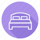 bed, holiday, holidays, outdoor, tourism, travel, vacation icon