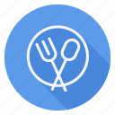 dish, holiday, outdoor, spoon, tourism, travel, vacation icon