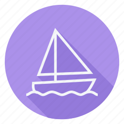 cruise, holiday, outdoor, sailboat, ship, tourism, travel icon