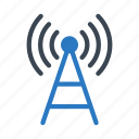 antenna, broadcast, signal, tower, wireless icon