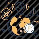 geotagging, globe, navigation, location