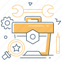 tools, repair, box, instruments