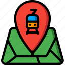journey, route, tourist, train, transport, travel icon