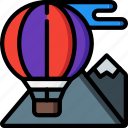 air, balloon, hot, journey, tourist, transport, travel icon