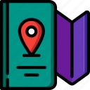 journey, map, tourist, transport, travel icon