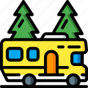 journey, motorhome, tourist, transport, travel