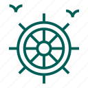 boat, helm, nautical, sea, ship, travel, wheel icon