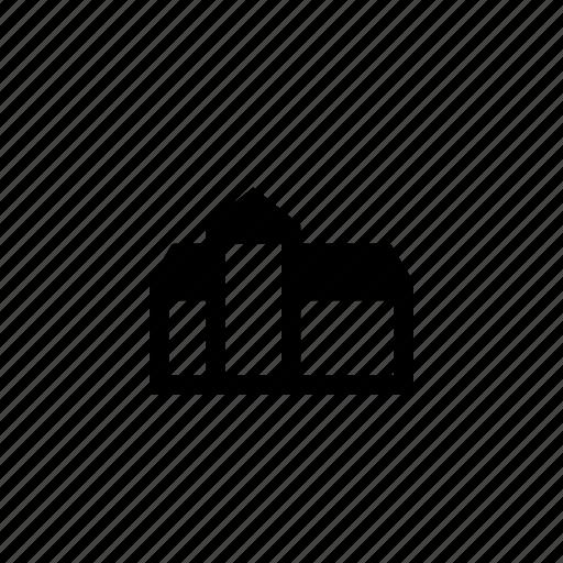building, storehouse, village icon