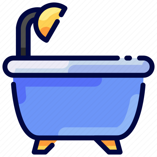bath, bathtub, bukeicon, hotel, relax, travel icon