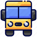 bukeicon, bus, education, transport, travel icon