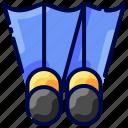 bukeicon, diving, fins, scuba, travel icon