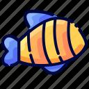 animal, bukeicon, fish, ocean, striped, travel