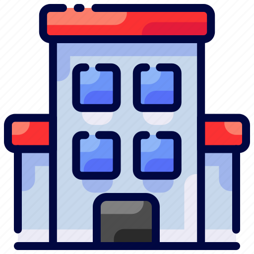 apartment, building, bukeicon, hotel, travel, vacation icon