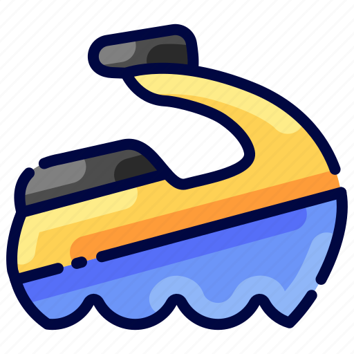 Beach, bukeicon, jetsky, transportation, travel, traveling, vehical icon - Download on Iconfinder