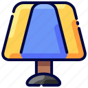 bukeicon, bulb, lamp, light, table, travel icon