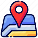 bukeicon, location, map, pin, travel icon