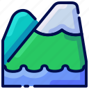 bukeicon, landscape, mountain, nature, travel, vacation icon