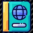bukeicon, document, id, pass, passport, travel icon