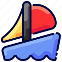 boat, bukeicon, float, sail, ship, travel, water