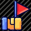 agent, bukeicon, flag, guide, tour icon
