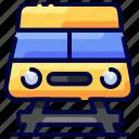 bukeicon, sign, train, transport, travel, tunnel