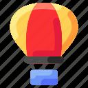 ballon, bukeicon, flaying, montain, public, transportation icon
