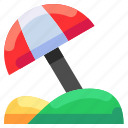 beach, bukeicon, paradise, travel, umbrella, vacation icon