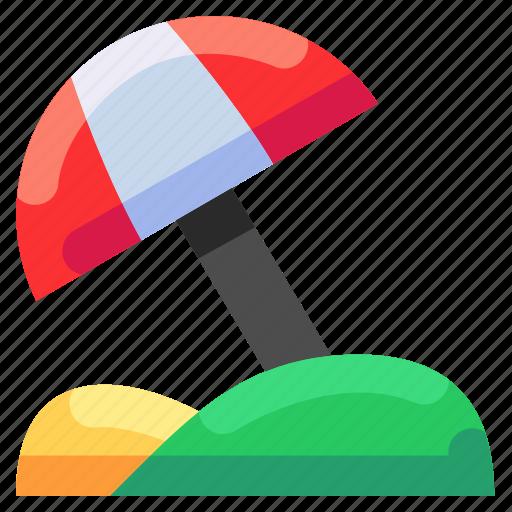 beach, bukeicon, paradise, travel, umbrella, vacation icon