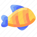 animal, bukeicon, fish, ocean, striped, travel icon