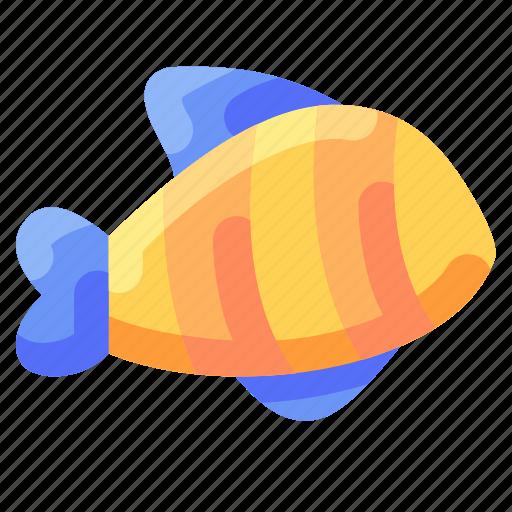 animal, bukeicon, fish, ocean, striped, travel icon