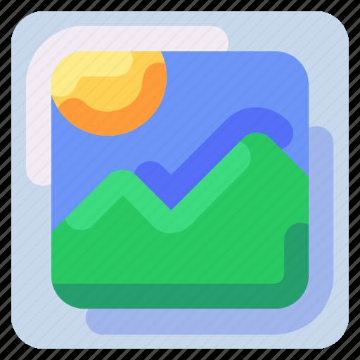 bukeicon, camera, image, landscape, photo, picture icon