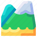 bukeicon, landscape, mountain, nature, travel, vacation icon