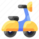 bukeicon, motorcycle, scooter, transportation, travel, uniqe, vespa icon