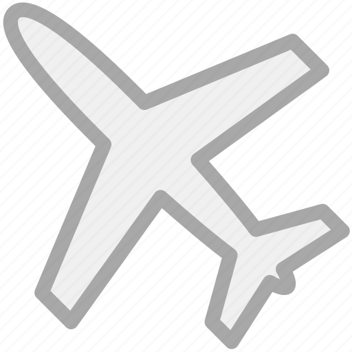 air flight, airliner, airplane, plane icon