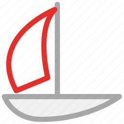 boat, sail boat, travel, yacht icon