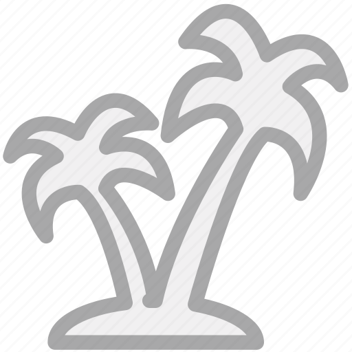 palm trees, trees, tropical trees, vacations icon