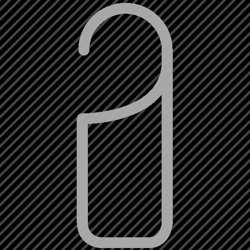door knob, door tag, hotel hanger sign, tag icon