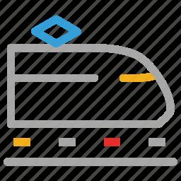 train, tram, transport, travel icon