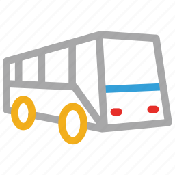 bus, coach, tour bus icon
