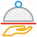 covered food, food, food serving, waiter service icon