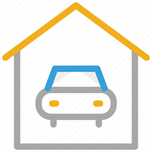 car, car porch, garage, porch icon